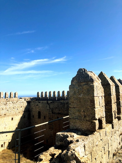 Intrior del castillo del Montgrí