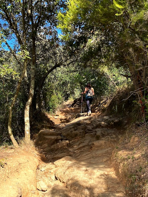 Camino rocoso a Sant Miquel
